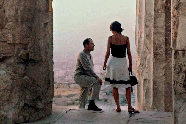 Mitterrand et Anne Pingeot sur l'Acropole
