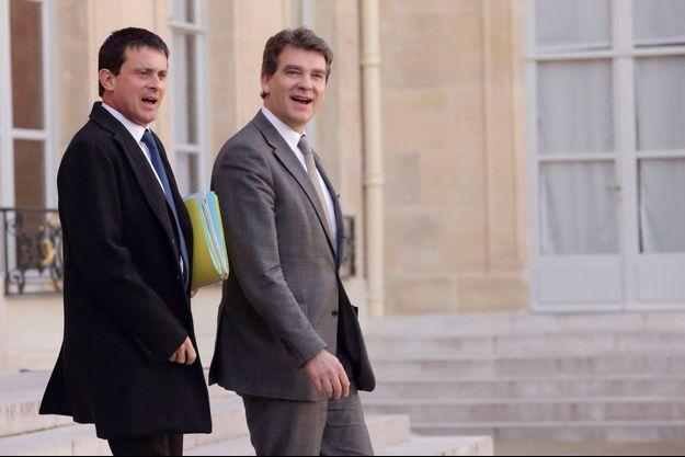 Manuel Valls et Arnaud Montebourg en octobre 2012.