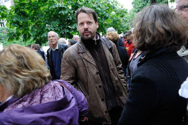 François Delapierre en mai 2013, lors d'une manifestation en faveur de l'amnistie syndicale.