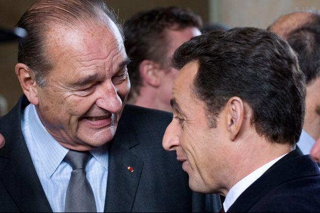 Jacques Chirac et Nicolas Sarkozy ici en 2008.