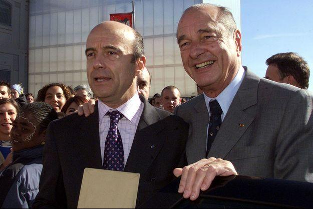 Jacques Chirac et Alain Juppé en octobre 2002.
