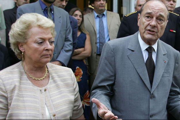 Nelly Olin et Jacques Chirac en 2005.