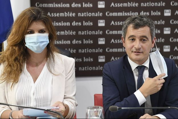 Marlène Schiappa et Gérald Darmanin.
