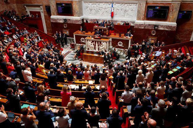 Edouard Philippe répond aux oppositions, mardi après-midi à l'Assemblée nationale.