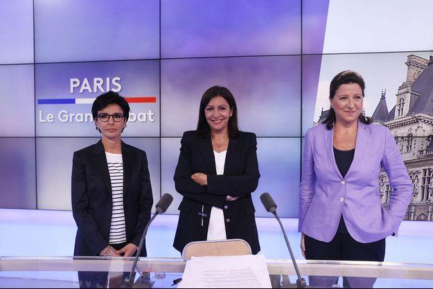 Rachida Dati, Anne Hidalgo et Agnès Buzyn.