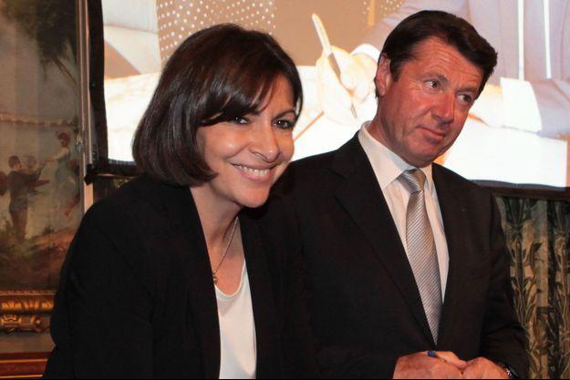 Anne Hidalgo et Christian Estrosi en 2014 à Paris.