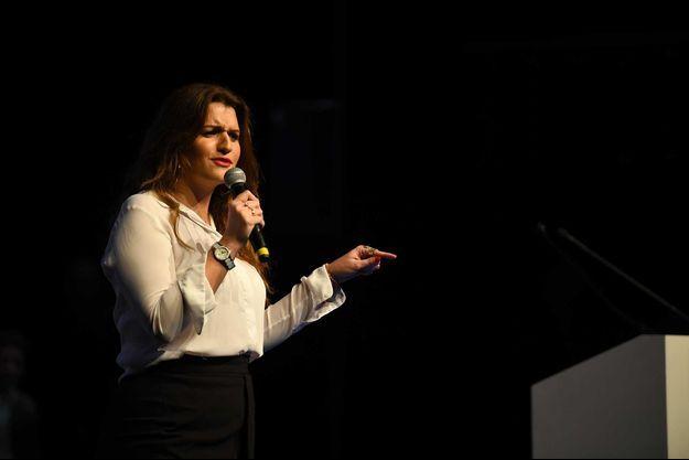 Marlène Schiappa lors d'un meeting à Paris, en janvier.