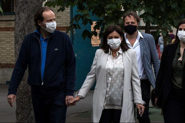 Anne Hidalgo et son mari Jean-Marc Germain le 28 juin 2020.