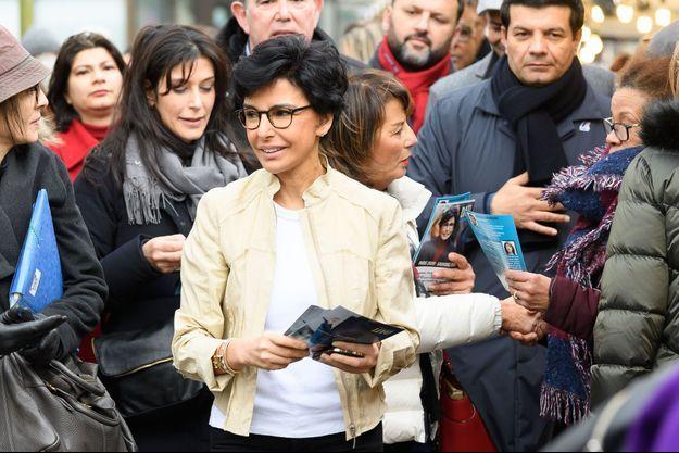 Rachida Dati, ici cette semaine sur un amrché du XIXe arrondissement.