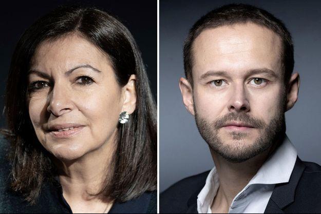 Anne Hidalgo et David Belliard.