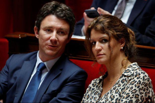 Benjamin Griveaux et Marlène Schiappa à l'Assemblée nationale.