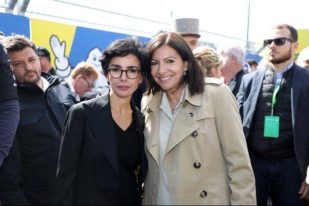 Rachida Dati et Anne Hidalgo, en avril 2019.