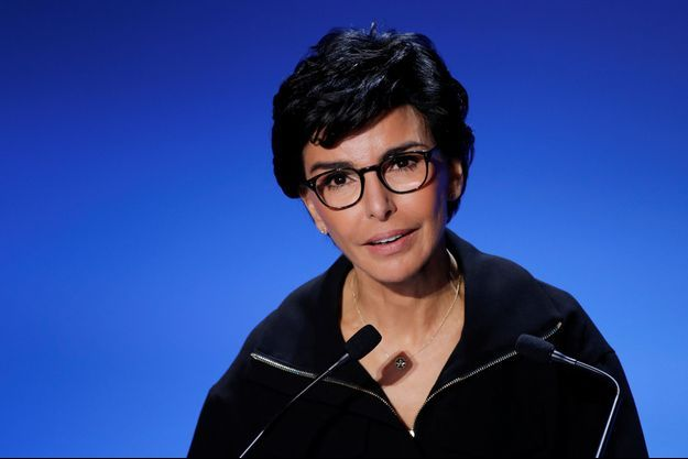 Rachida Dati lors de son meeting salle Gaveau, en présence de Nicolas Sarkozy.