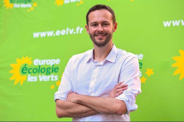 David Belliard, tête de liste d'Europe Ecologie-Les Verts pour les municipales à Paris.