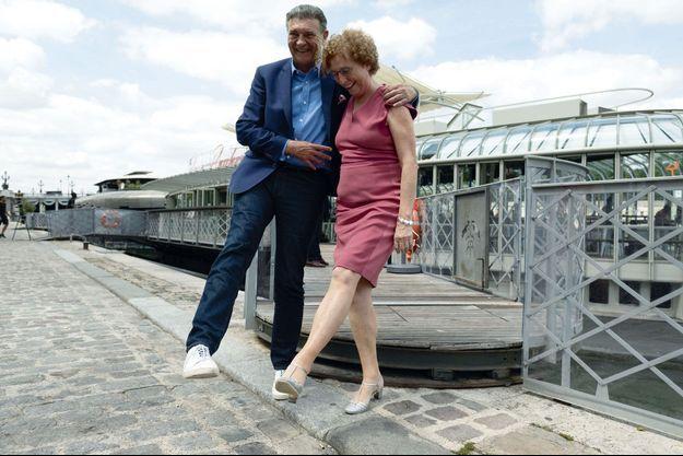 Jean-Marc Borello et Muriel Pénicaud le 19 juillet sur le quai d'Orsay, à Paris.