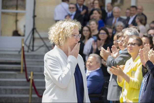 Muriel Pénicaud lors de son départ du ministère du Travail, le 7 juillet dernier.