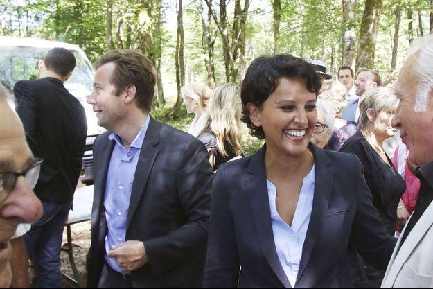 Boris Vallaud et Najat Vallaud-Belkacem le 6 août 2016 à Toujouse, dans le Gers.