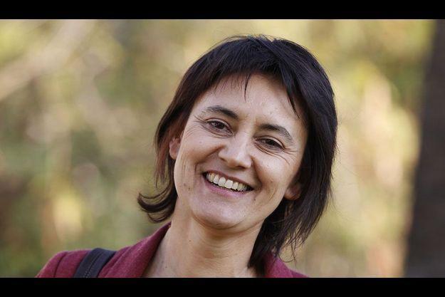 Nathalie Arthaud à Nice, samedi.