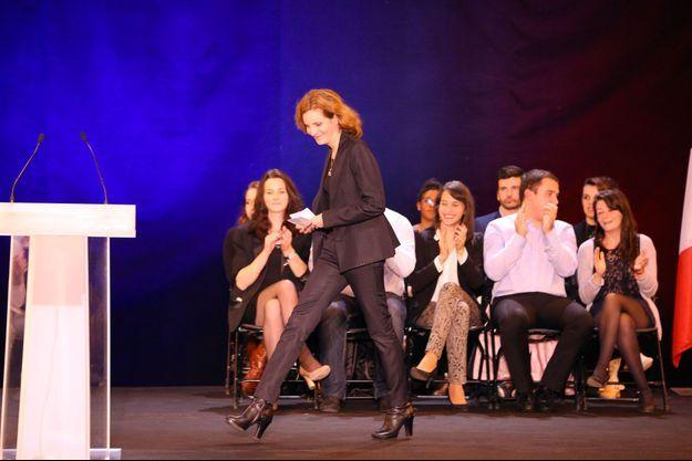 Nathalie Kosciusko-Morizet lors d'un meeting de Nicolas Sarkozy à Nîmes, le 27 novembre.