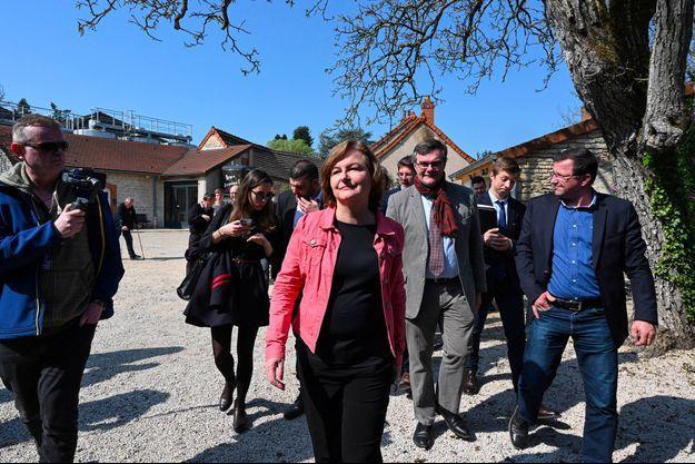 Nathalie Loiseau à Rully en Saône-et-Loire, vendredi dernier.
