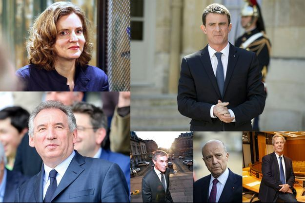 Nathalie Kosciusko-Morizet, Manuel Valls, François Bayrou, Jérôme Cahuzac, Alain Juppé et Jean-Louis Debré.