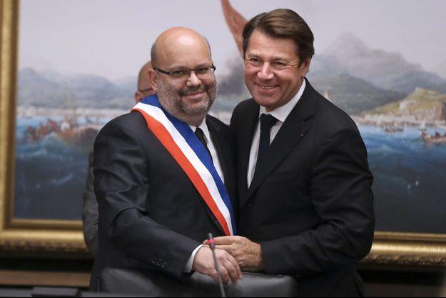 Philippe Pradal avec Christian Estrosi, lundi 13 juin.