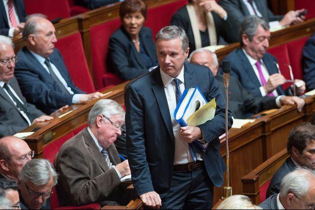 Nicolas Dupont-Aignan à l'Assemblée nationale, le 5 mai dernier.