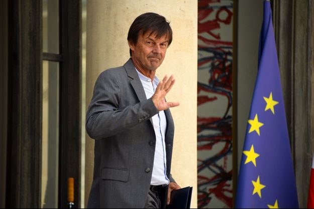 Nicolas Hulot à l'Elysée le 22 août, pour ce qui restera comme son dernier conseil des ministres.