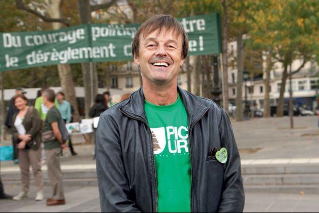 Nicolas Hulot à la marche pour le Climat le 2& septembre 2014.