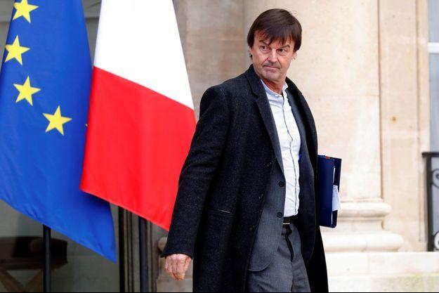 Nicolas Hulot à l'Elysée mi-janvier.