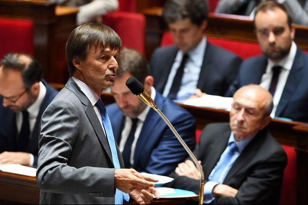 Nicolas Hulot à l'Assemblée nationale, le 12 juillet dernier.