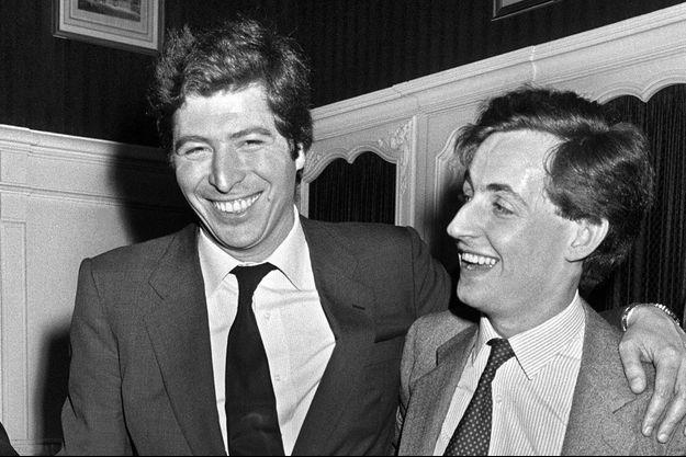 Patrick Balkany et Nicolas Sarkozy en 1983.