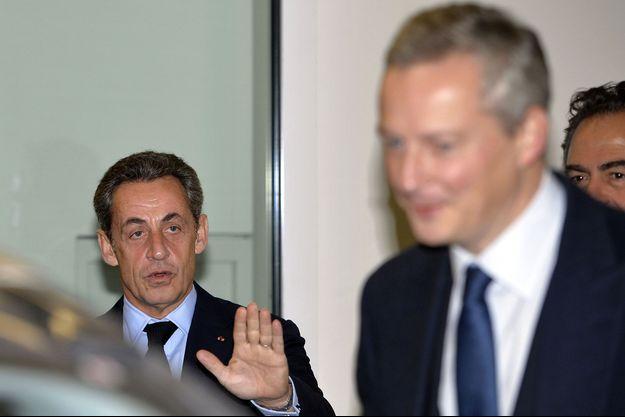 Nicolas Sarkozy et Bruno Le Maire en décembre 2014.