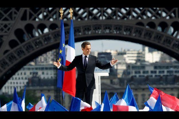 Nicolas Sarkozy, mardi, au Trocadéro.