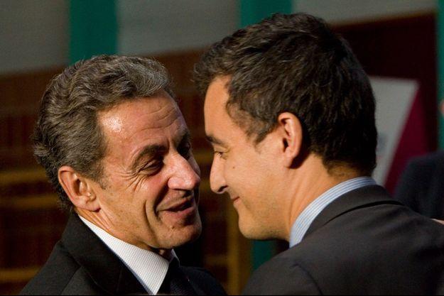 Nicolas Sarkozy et Gérald Darmanin ici en septembre 2016.