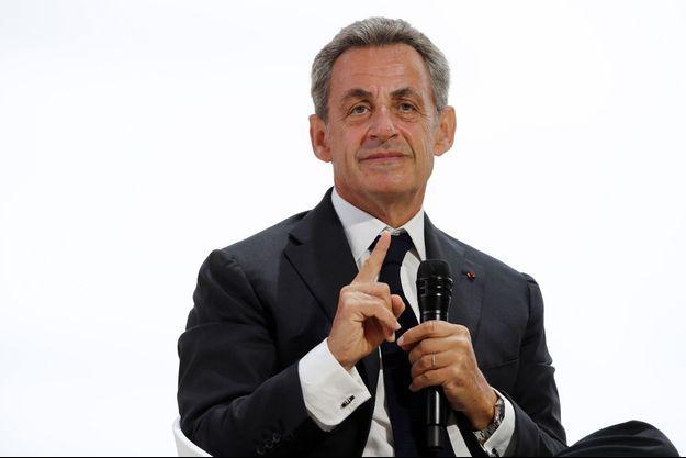 Nicolas Sarkozy fin août lors de l'université d'été du Medef.