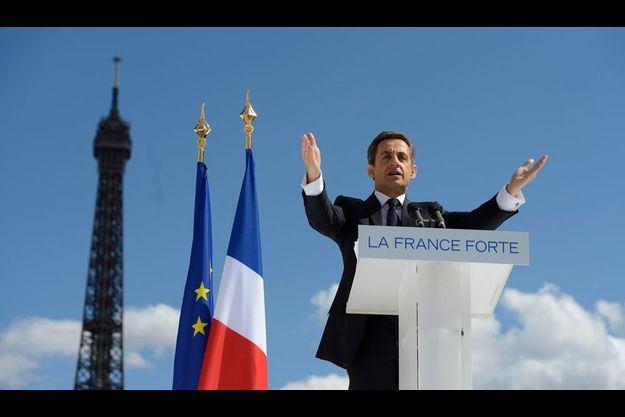 Nicolas Sarkozy, place du Trocadéro, le 1er mai dernier.