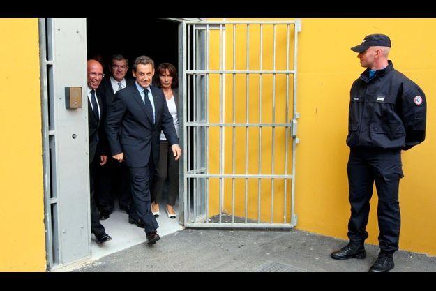 Nicolas Sarkozy au centre pénitentiaire de Réau.