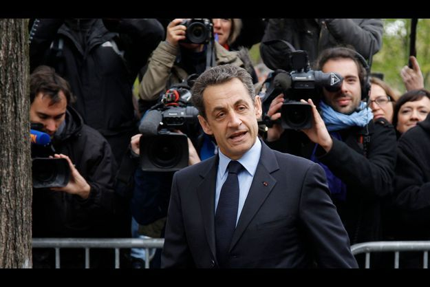 Nicolas Sarkozy, lors de la campagne présidentielle en 2012.
