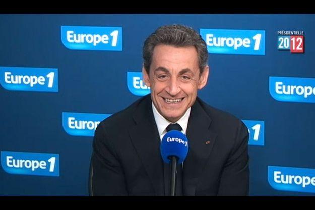 Nicolas Sarkozy sur Europe 1, mercredi.