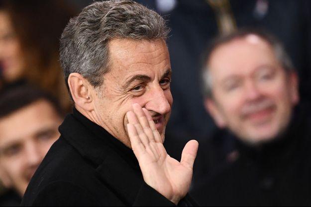 Nicolas Sarkozy, ici au Parc des Princes ce week-end.