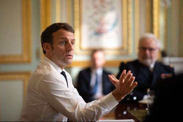 Emmanuel Macron à l'Elysée, vendredi.