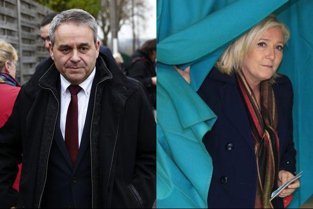 Xavier Bertrand et Marine Le Pen, dimanche 13 décembre.