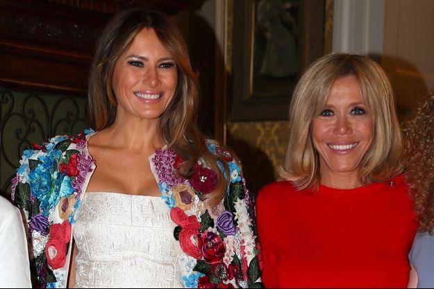 Melania Trump et Brigitte Macron, au G7 en Sicile fin mai.