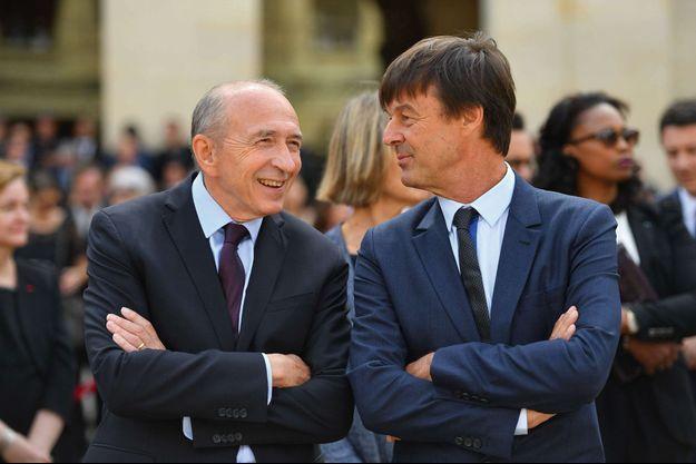 Gérard Collomb et Nicolas Hulot