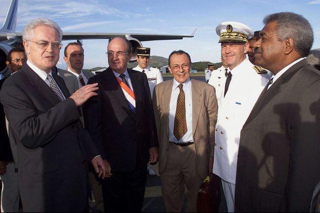 Michel Rocard et Lionel Jospin en Nouvelle-Calédonie en 1998.