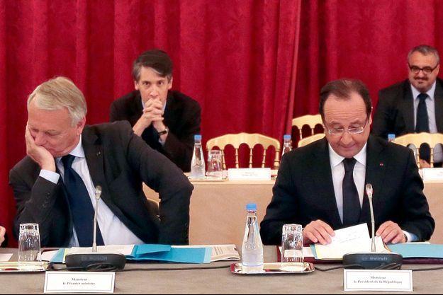 Jean-Marc Ayrault et François Hollande le 2 juillet.