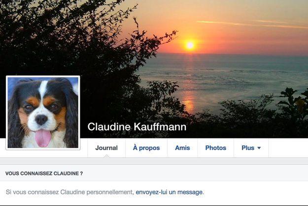 La page Facebook de Claudine Kauffmann.