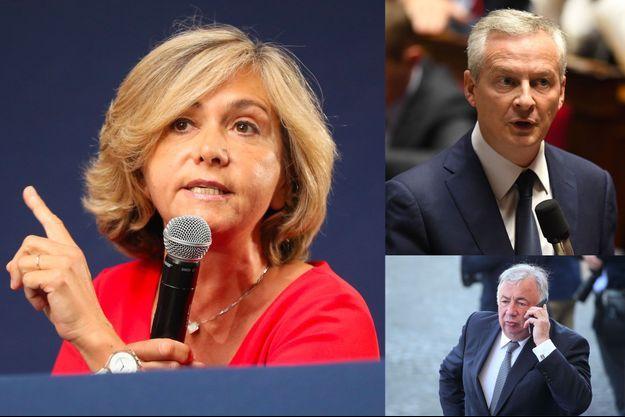 Valérie Pécresse, Bruno Le Maire et Gérard Larcher.