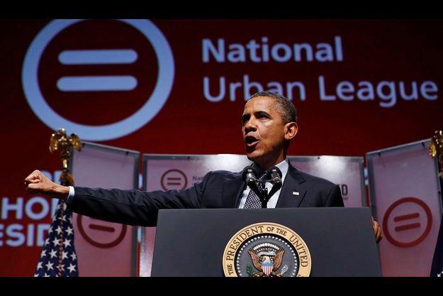 Barack Obama a prononcé un discours mercredi lors de la conférence National Urban League.